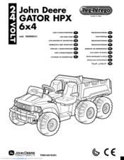 Peg-perego John Deere GATOR HPX 6x4 Manuals