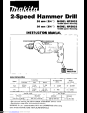 Makita HP2033 Manuals