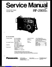 Panasonic RF-2900 Manuals