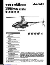 Align T-REX 450 Sport V2 Super Combo Manuals