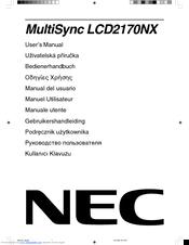 Nec MultiSync LCD2170NX Manuals