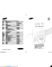 Samsung LE26D450 Manuals