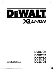 Dewalt DCD795 Manuals