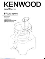 Kenwood multipro FP720 series Manuals