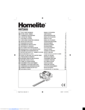 Homelite hht2655 Manuals