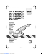Bosch Gws 24-180 h professional Manuals