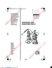 Bosch AQUATAK 1500 X Manuals