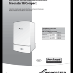 Worcester Greenstar Ri Wiring Diagram A Light Switch From An Outlet Diagrams To Add Receptacle Do It 27ri Compact Installation Commissioning And Servicing Instructions Pdf Download