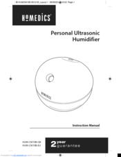 Homedics HUM-CM10B-EU Manuals