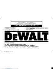 Dewalt DCS381 Manuals