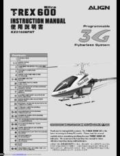 Align nitro trex 600 KX0160NPNT Manuals