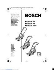 Bosch Rotak 32 Manuals