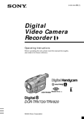 Sony DCR-TRV820 Manuals