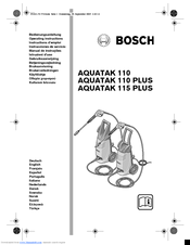 Bosch AQUATAK 110 PLUS Manuals