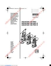 Bosch AQUATAK 160 PRO X Manuals