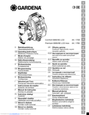 Gardena Premium 6000/6E LCD Inox Manuals