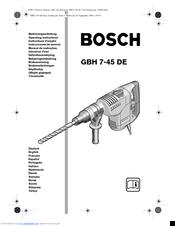 Bosch GBH 7-45 DE Manuals