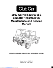 Club Car XRT 1550SE Manuals