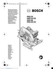 Bosch PKS 54 Manuals