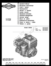 Briggs & Stratton 130000 950 Series Manuals