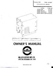 Miller econo twin hf Manuals