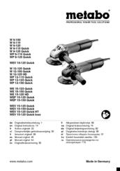 Metabo WE 15-125 Quick Manuals