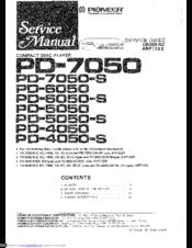 Pioneer PD-5050 Manuals