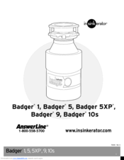 Insinkerator Badger 5 Manuals
