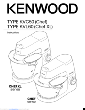 Kenwood KVL60 Chef XL Manuals