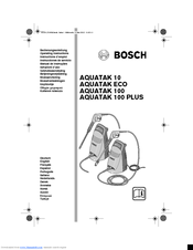 Bosch AQUATAK 100 PLUS Manuals