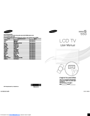 Samsung LN40D550 Manuals