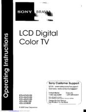 Sony BRAVIA KDL-46V5100 Manuals