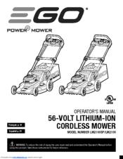 Ego LM2100SP Manuals