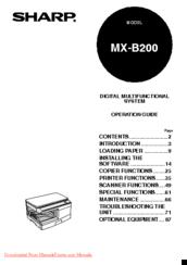Sharp MX-B200 Manuals