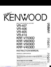 Kenwood KRF-V5030D Manuals