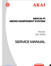 Akai QX-3700 Manuals