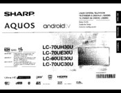 Sharp Aquos LC-70UE30U Manuals