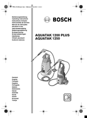 Bosch Aquatak 1250 Manuals