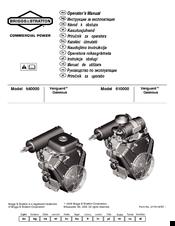 Briggs & Stratton Vanguard 610000 Manuals