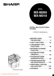 Sharp MX-M310 Manuals