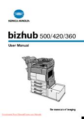 Konica Minolta bizhub 360 Manuals