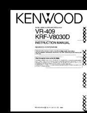 Kenwood VR-409 Manuals