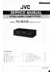 Jvc TD-W220 SERIES Manuals