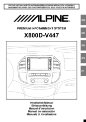 Alpine X800D-V447 Manuals