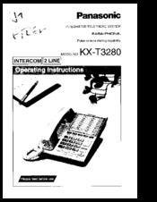 Panasonic EASA-PHONE KX-T3280 Manuals