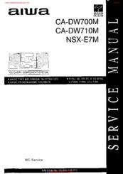 Aiwa CA-DW700M Manuals