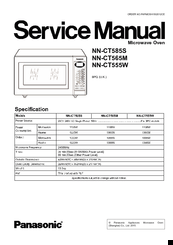Panasonic NN-CT585S Manuals