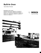 Bosch HBN5451UC Manuals