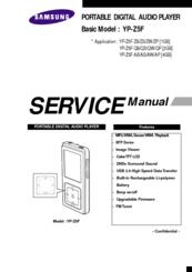 Samsung YP-Z5F Manuals