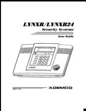 Ademco LYNXR Manuals